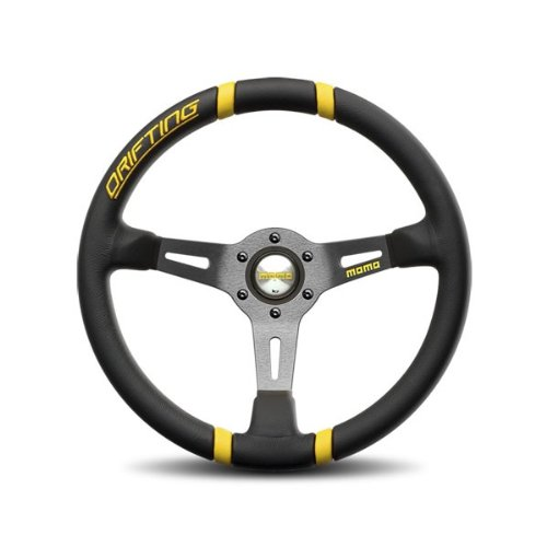 Momo Drifting Black Yellow Steering Wheel 350mm