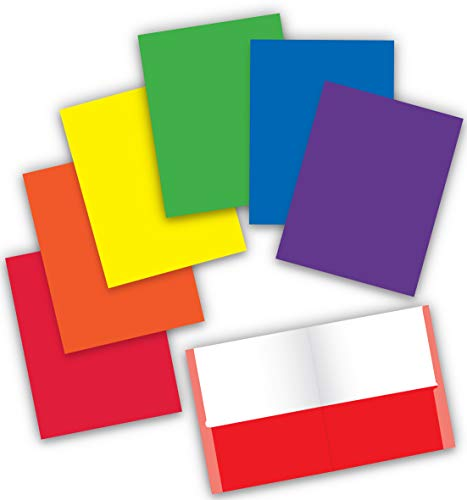 - New Generation - 2 Pocket Folder/Portfolio,Letter Size,11.5 x 9.2 Inches Paper Folders - Assorted 6 Primary Fashion Colors. (6 Pack)
