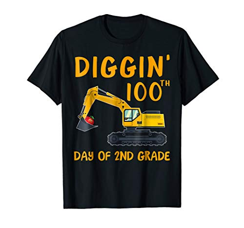 Digging 100Th Day Of 2Nd Grade Shirt Gift For Students]()