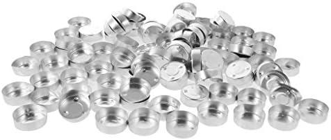 200x供給を作るアルミニウム茶ライト空の場合の容器のティーライトの蝋燭 - 38x14mm