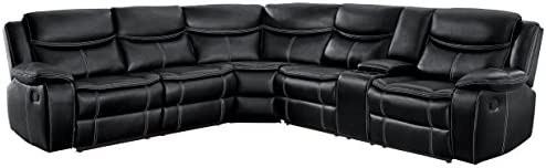 Homelegance 118″ Manual Reclining Sectional Sofa
