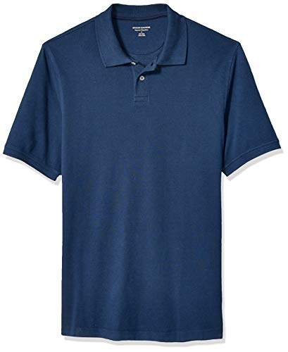 Amazon Essentials Men's Regular-fit Cotton Pique Polo Shirt, Cadet Blue X-Large