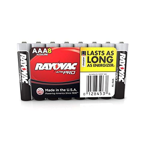 Rayovac Ultra Pro Batteries, Size AAA,  Al-AAA, 8-Pack