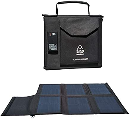 Megasolar 60w Solar Charger Solar Panel With Solar Controller Usb Type C Pd And Quick Charge 3 0 And Dc 12v 15v 20v Output Portable Solar Charger For Charging 5v 20v Solar Generator