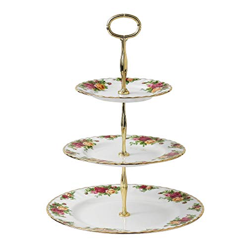 Royal Albert 27400132 Old Country Roses 3-Tier Cake Stand (Old Country Roses Christmas)