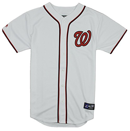 Nationals Washington Youth Jersey Home (Washington Nationals MLB Big Boys Home Replica Jersey - White (Large (14/16)))