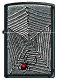 Zippo Custom Lighter - Black Widow Spider w/ Web RARE!