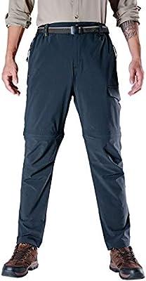 99e579e5e4b85 Rdruko Men's Outdoor Quick Dry Lightweight Convertible Hiking Fishing  Mountain Cargo Pants with Belt(02Blue