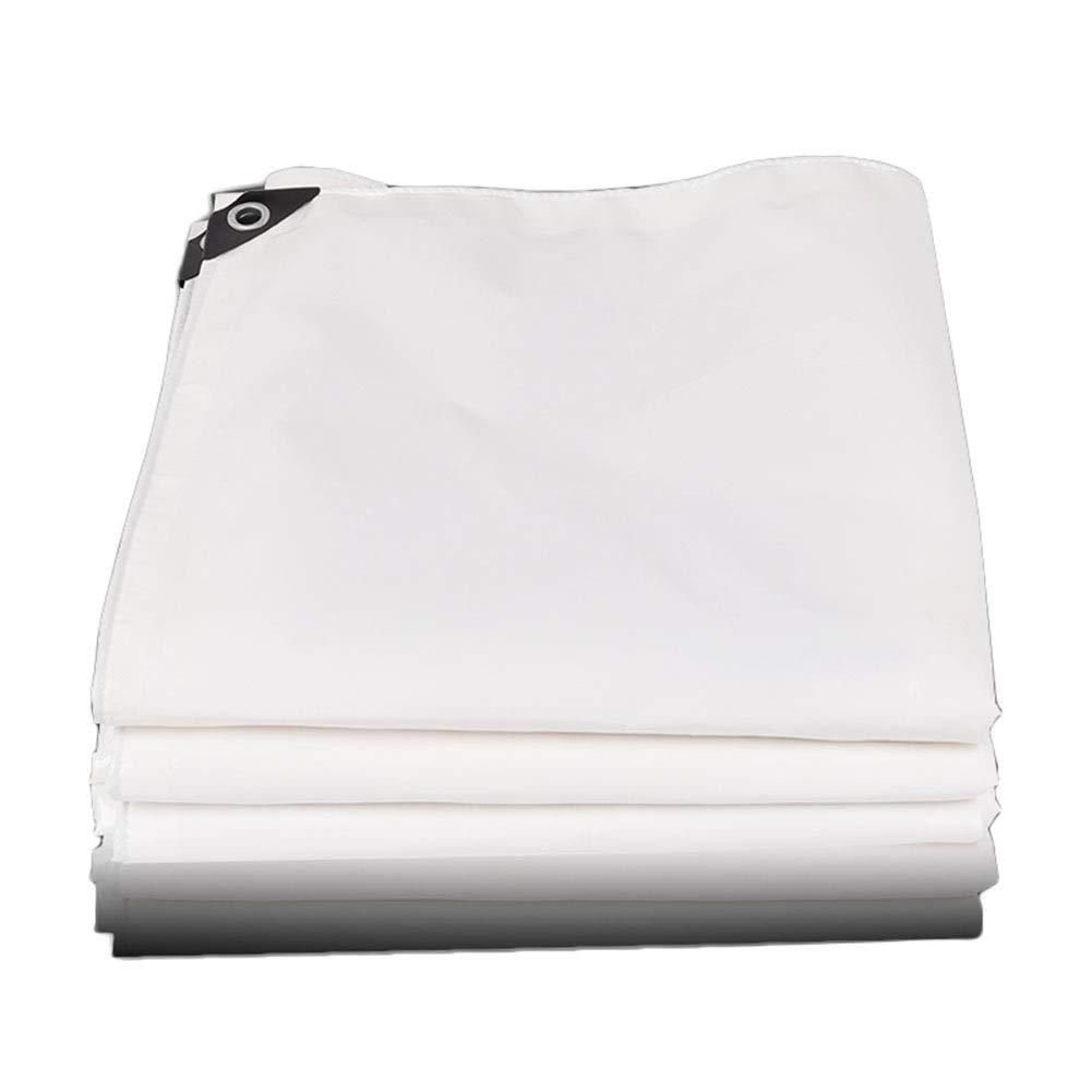 4×5m  Yunyisujiao Couverture de Camion en Tissu Enduit de PVC de bÂches épaisses imperméable en Plastique imperméable à la Pluie de bÂche, Blanc, 500g   m² (Couleur   2×2M)