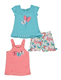 "Nannette Baby Girls' ""Butterfly Shadow"" 3-Piece Set"
