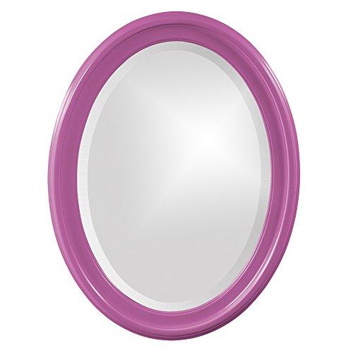 Howard Elliott 40107HP George Mirror, Oval, Glossy Hot - Pink Mirror Oval