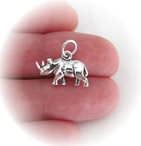 Sterling Silver 3D Rhino...