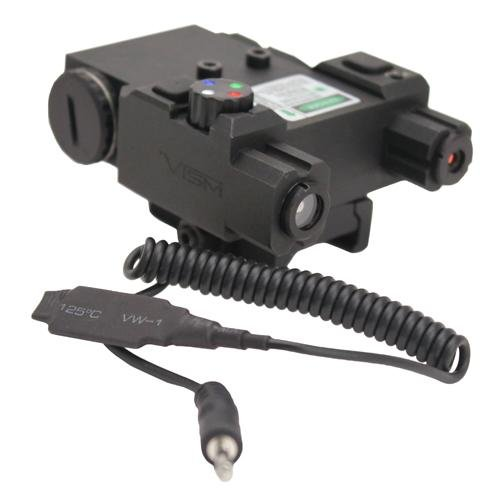 NcSTAR Green Laser and 4-color Navigation LED Lights (Colour Led Laser)