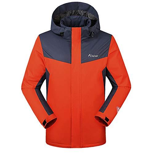 Moto Invernale 3xl Termica blue Cappuccio Orange Per Caldo Usb Con Impermeabile Elettrica Giacca Sci Alpinismo m qtxwOTPq