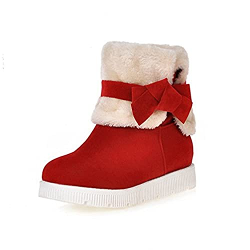 fd54f2cec488db AmoonyFashion Women s Frosted Pull-On Round Closed Toe Low-Heels Low Top  Boots hot