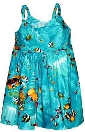 Amazon.com: Hanauma Bay Hawaiian Dress - Girls Hawaiian Dress ...