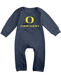 Cotton Baby Infants Long Sleeve Onesies Toddler Bodysuit Navy Oregon Ducks Football Rompers Playsuit Onesies