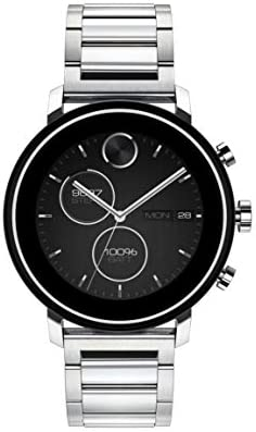 Movado Connect 2.0 Unisex Powered with Wear OS by way of Google Stainless Steel and Stainless Steel Smartwatch, Color: Silver (Model: 3660035)
