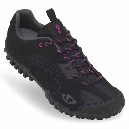 Giro 2013 Women's Petra Mountain Bike Shoes (Black/Rhodamine Red - 39)