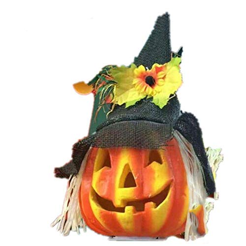 Wetietir Festival Mask Halloween Kindergarten Decoration Glow Bubble Pumpkin Light Costume Mask ()