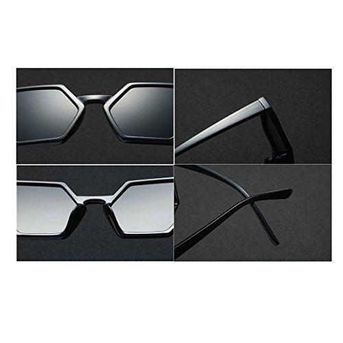 Aiweijia gafas gran tamaño Oscuro sol moda gafas mujeres Retro polígono sol hombres de gafas Gris de Nuevo Vintage diseño de rtBAqx1r