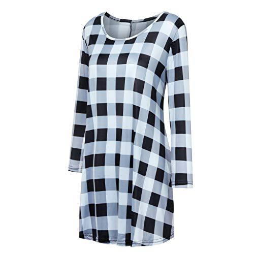 Fashion 4 stampa donna 3 maniche Top tunica o camicetta floreale Camicie collo casual bianca Auifor con da dqSYdz