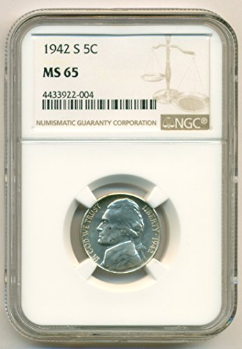 1942 S Jefferson Silver Nickel MS65 NGC