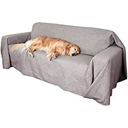 Floppy Ears Design Simple Couch CoverAll Protector, Grey, Medium Two Cushion Couch Loveseat Size