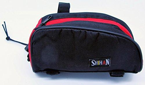 Shihan Bike Bike Gear/Tasche Outdoor Mountain Fahrrad Rahmen Front Oben Tasche Beutel (Farbe schwarz/rot)