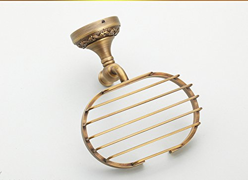 Hyun times All copper antique soap dish soap holder soap net soap dish Continental bathroom hardware pendant thickened Luxury by Hyun times Soap stand (Image #5)