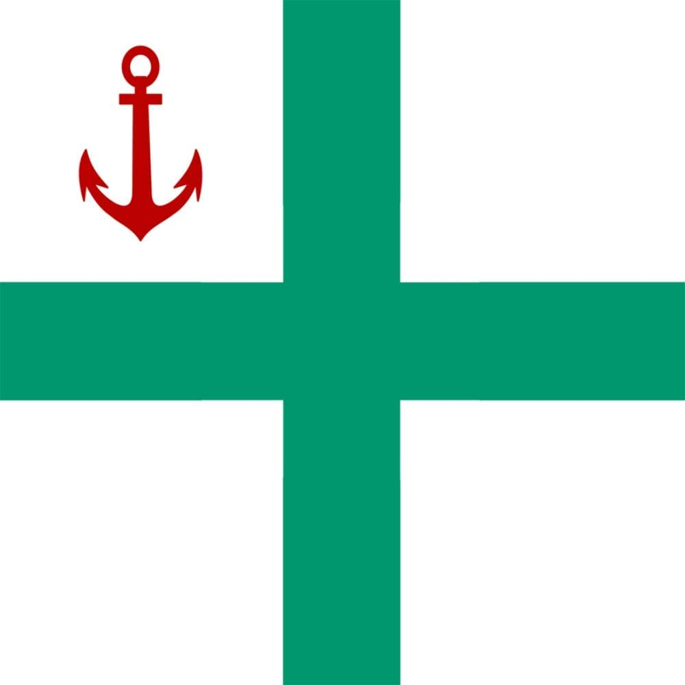 magFlags Large Flag Bulgarian Rear-Admiral 1908-1944 | 1.35m² | 14.5sqft | 120x120cm | 45x45inch - 100% Made in Germany - Long Lasting Outdoor Flag