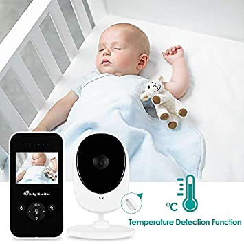 Video Baby Monitor, LETING 2.4 Color Screen Baby Monitor with Infrared Night Vision, Two-Way Talk Audio, Temperature Monitoring, Long Transmission Range, Lullabies and High Capacity Battery