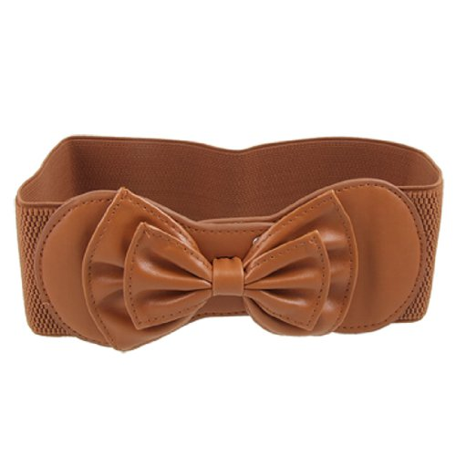 Butterfly Elastic Belt (Elastic Coffee Butterfly Knot Hook Buckle Ladies Waist)