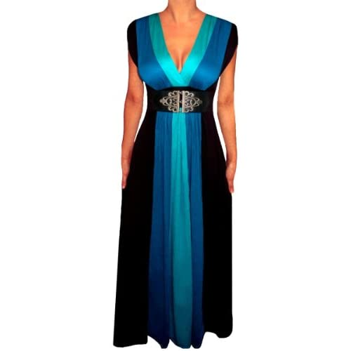 3344e8f75d3 Funfash Plus Size Clothing for Women Black Slimming Block Cocktail Maxi  Dress lovely