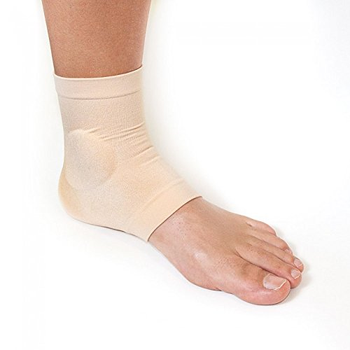 Malleolar Ankle Gel Sleeve, Great for Ski Boots, Ice Skates, Cowboy Boots
