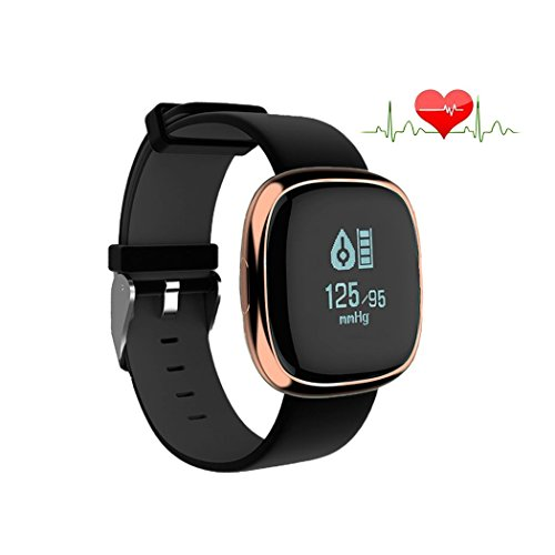 Waterproof Bluetooth Smart Watch with Blood Pressure /Heart Rate / Sleep Monitor Sports Fitness tracker Watch smart band Pedometer for IOS Android Smartphone by Tibang Fitness