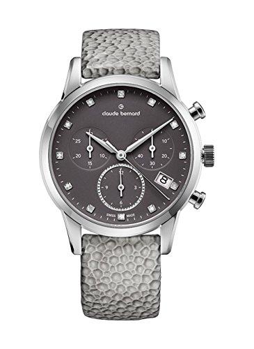 Claude Bernard Ladies-Wristwatch Jolie Classique Chronograph Date Quartz 10231 3 TAPN1