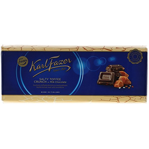 Fazer - Karl Fazer Salty Toffee Crunch in Milk Chocolate 250g