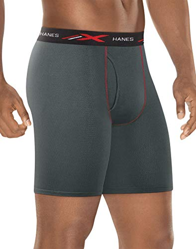 - Hanes Men's X-Temp 4-Way Stretch Mesh Long Leg Boxer Brief 3-Pack, Assorted 2X Large