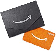 Amazon.com $50 Gift Card in a Black and Silver Mini Envelope