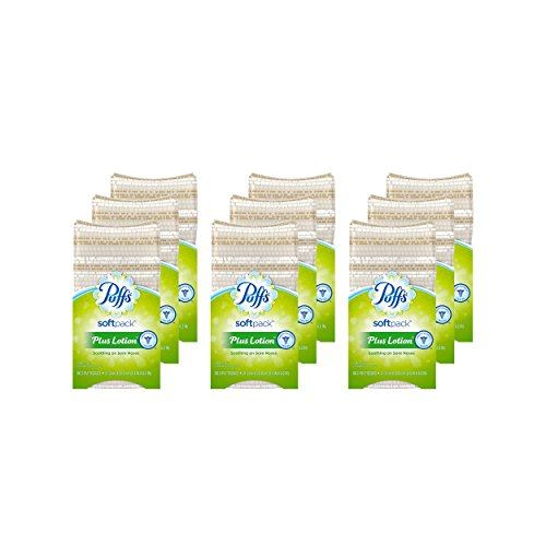 Puff Pack - Puffs Plus Lotion Facial Tissues, 9 Softpacks, 96 Tissues per Pack