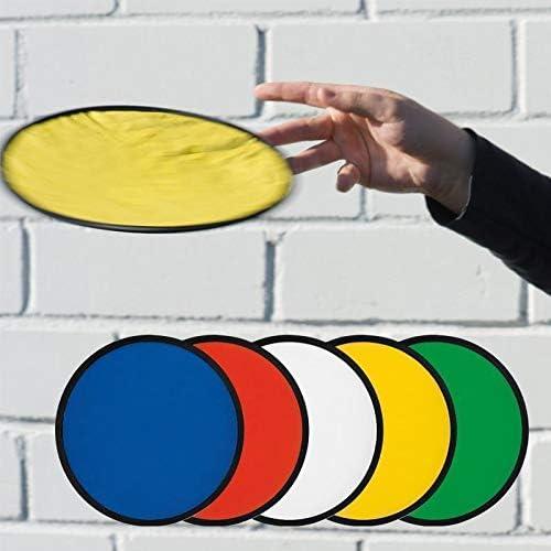 Faltbar mit Etui aus Polyester Wurfscheibe Wufspielzeug Freizeit 2 Frisbee Blau