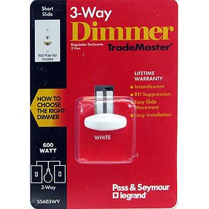 White Short Slide 3-Way Dimmer (Seymour Slide Short)