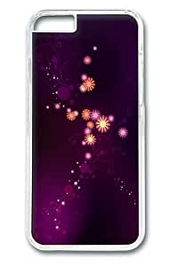 Abstract purple flowers PC Case Cover for iphone 6 plus 5.5 inch Transparent wangjiang maoyi by lolosakes
