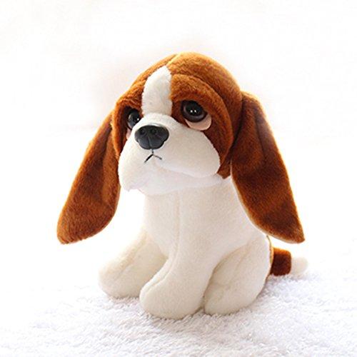 AMOBESTER Basset Hound Stuffed Animal Plush Dog Toy