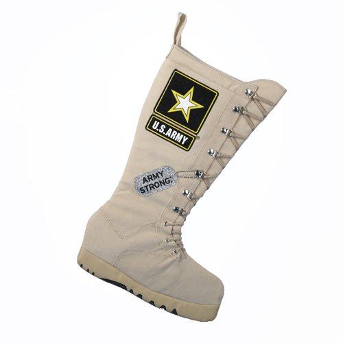 Kurt Adler 19-Inch U.S. Army Combat Boot Applique Stocking