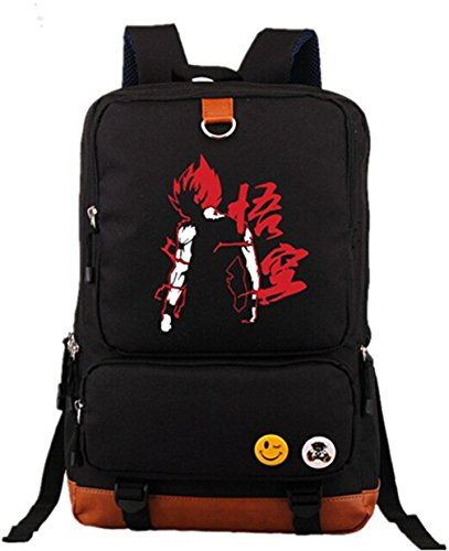 Gumstyle Anime Dragon Ball Large Capacity School Bag Cosplay Backpack Black and Blue