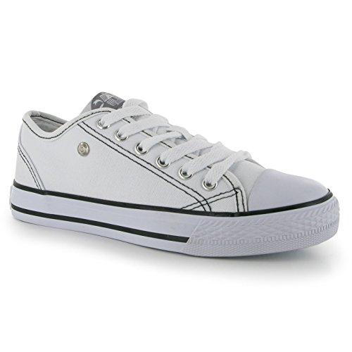 Dunlop para Zapatillas mujer Lona Blanco Blanco de BqBx8r