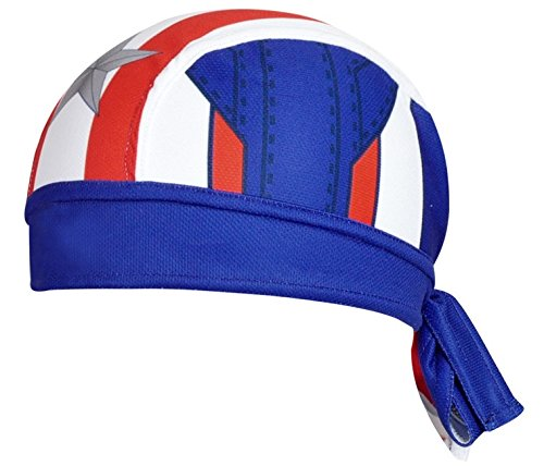 Cycling bandana headwear Captain America Style by ShopINess