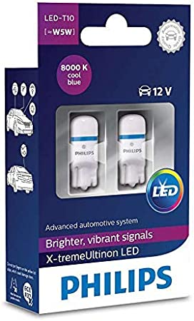 127996000kx2 Philips X treme Vision W5w Led T10 12v 1w